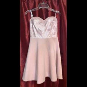 Baby Pink Strapless Dress (Small)